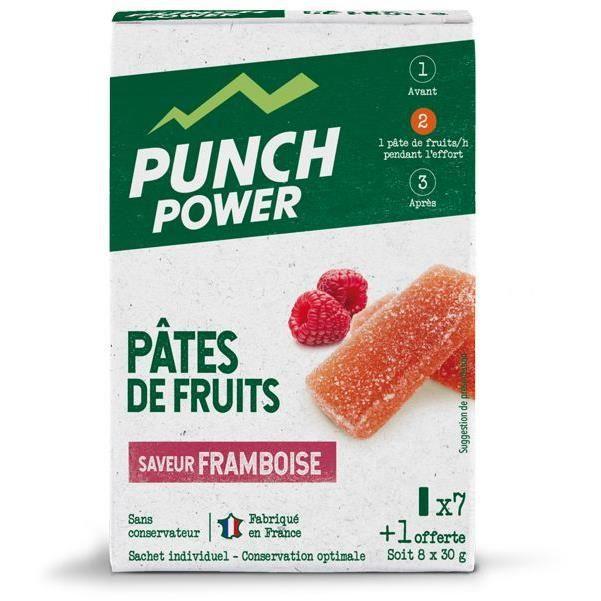 PUNCH POWER Pâtes de fruits Framboise - Boite 8 unités