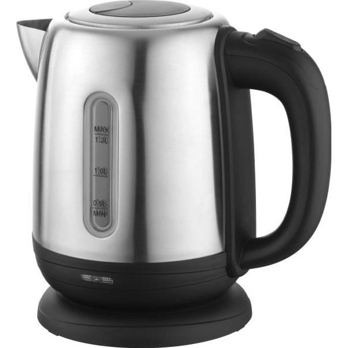 Senya bouilloire électrique Inox Little Tea, bouilloire sans fil, capacité 1.2L, 1500W, SYBF-K025N (Noir)