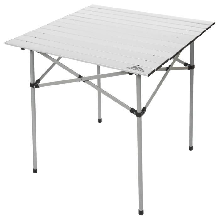 TRESPASS Table de camping Xilo Roll Top - Gris argenté