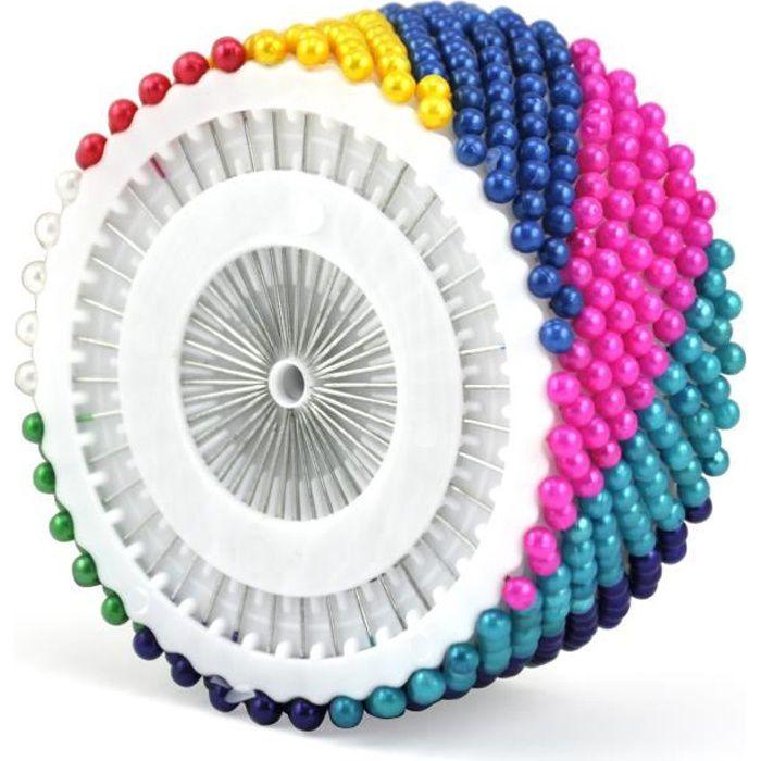 TRIXES 480 épingles droites à l'ourlet , couture à la main , les tailleurs , le mode , têtes multicolores