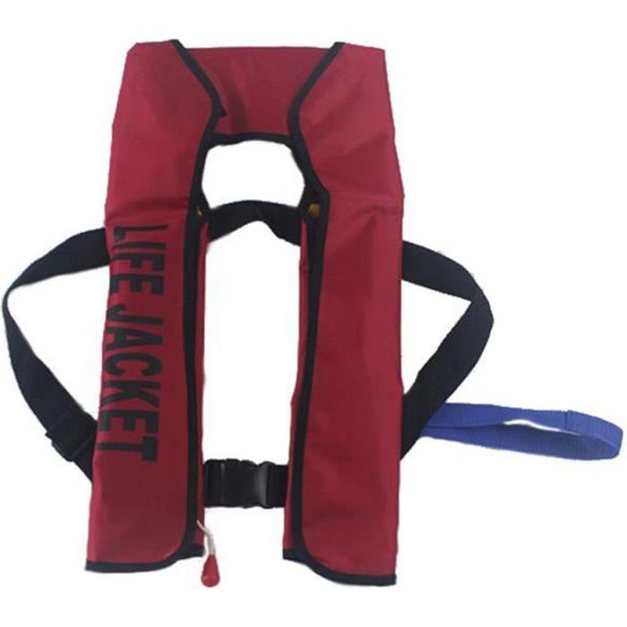 Gilet de sauvetage gonflable automatique de gilet de sauvetage pour l'urgence de pêche de natation de femme d'homme