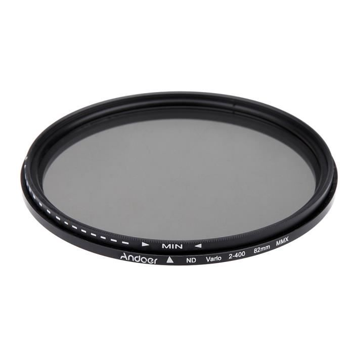 nd filtre andoer 82mm r glable nd400 variable pour canon nikon dslr achat vente filtre. Black Bedroom Furniture Sets. Home Design Ideas