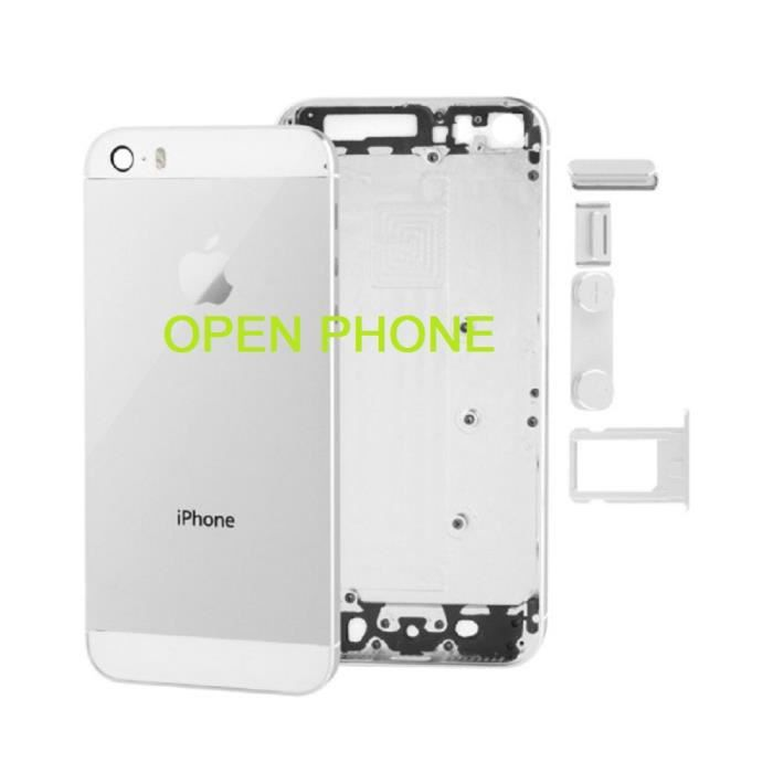 Chassis coque arrière pour iphone 5S ARGENT outils offert ...