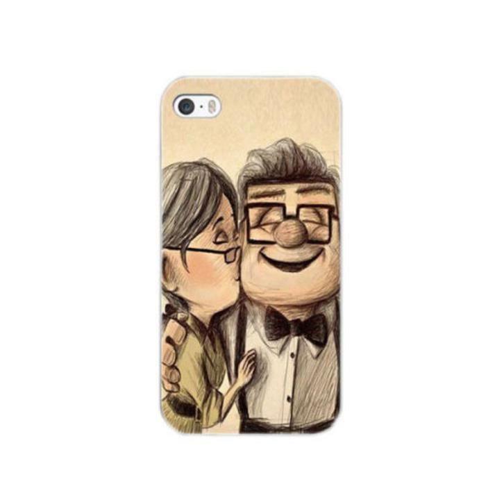 Coque iPhone 5C Couple Heureux Papi Mami Joie Bisous Tendresse ...
