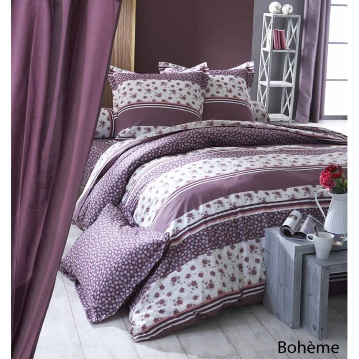 housse de couette boheme coton 240x220 achat vente. Black Bedroom Furniture Sets. Home Design Ideas