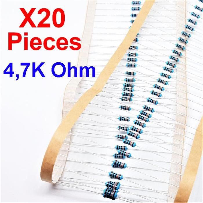 2.2 OHM 1 W résistances 3 Pièces Inclus 2.2R 2.2 1.0 W Carbone Film Résistances un
