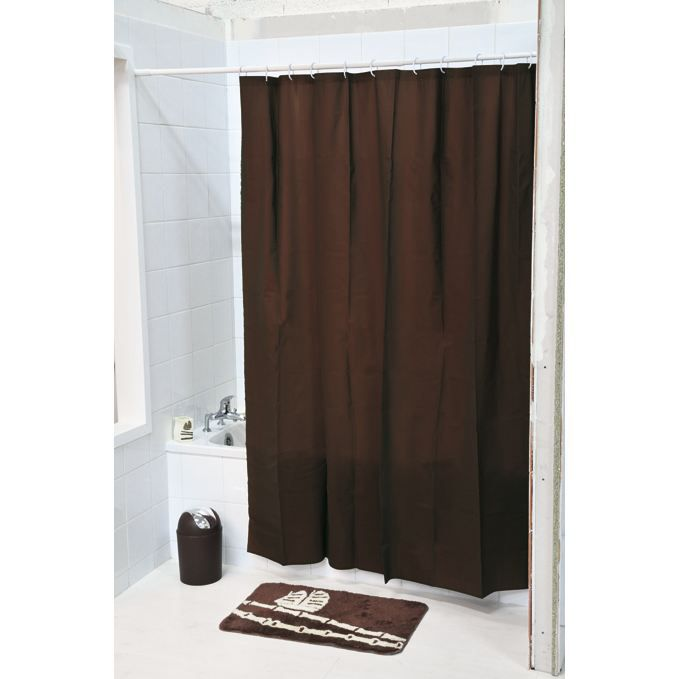 rideau de douche de couleur chocolat. Black Bedroom Furniture Sets. Home Design Ideas