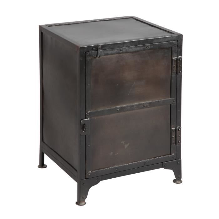 chevet 1 porte en acier atelier metal achat vente chevet chevet 1 porte en acier ate. Black Bedroom Furniture Sets. Home Design Ideas
