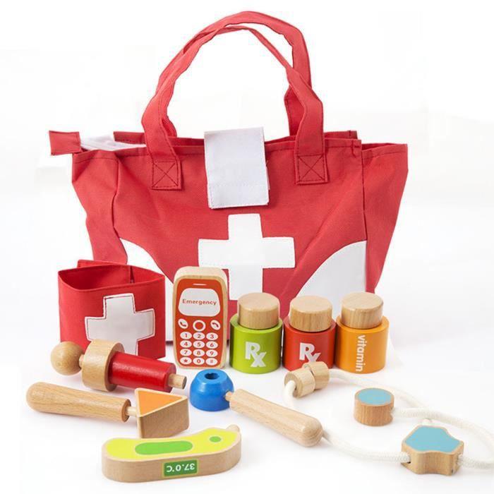 Malette de Docteur jeu Médecin Mallette Transport pour Garçon et Fille
