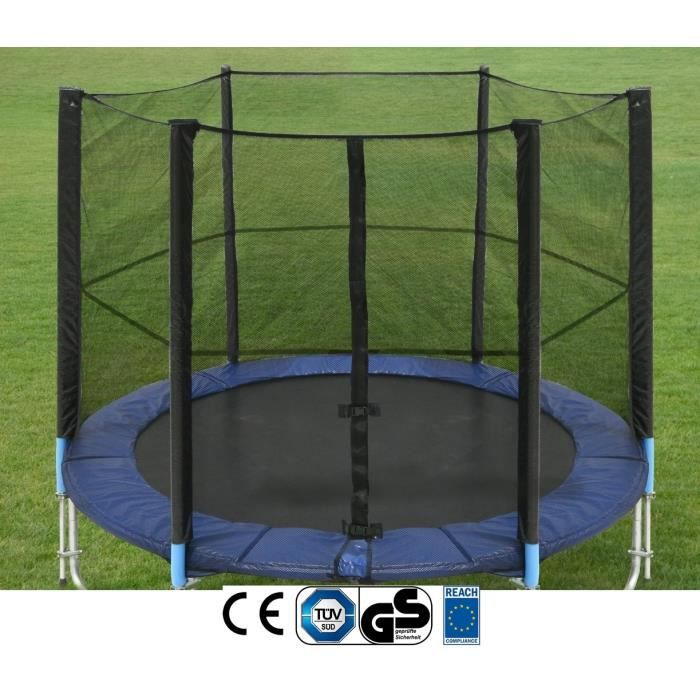 filet de s curit pour trampoline 305 cm avec 6 poteaux achat vente acc de trampoline. Black Bedroom Furniture Sets. Home Design Ideas