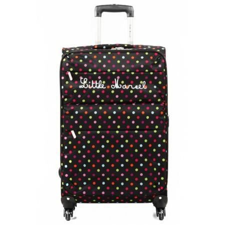 little marcel valise souple 68 cm maria pois achat. Black Bedroom Furniture Sets. Home Design Ideas