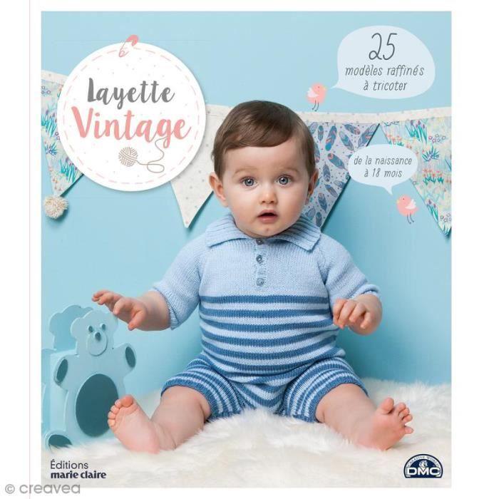 Livre Layette Vintage 25 Modeles Pour Bebe A Tricoter De 0 A 18 Mois