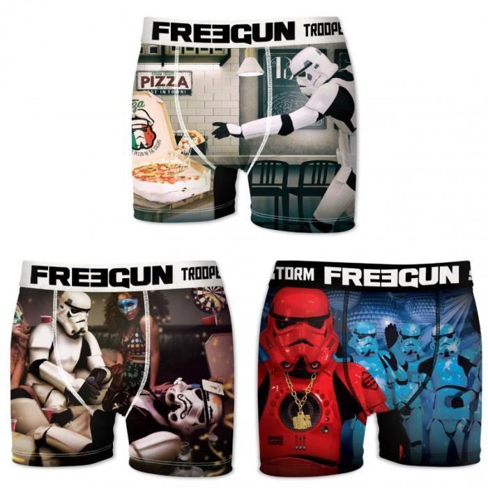 Freegun Star Wars Darth Vader Stormtrooper Lot de 4 boxers pour homme Motif /étoiles Taille S M L XL XXL