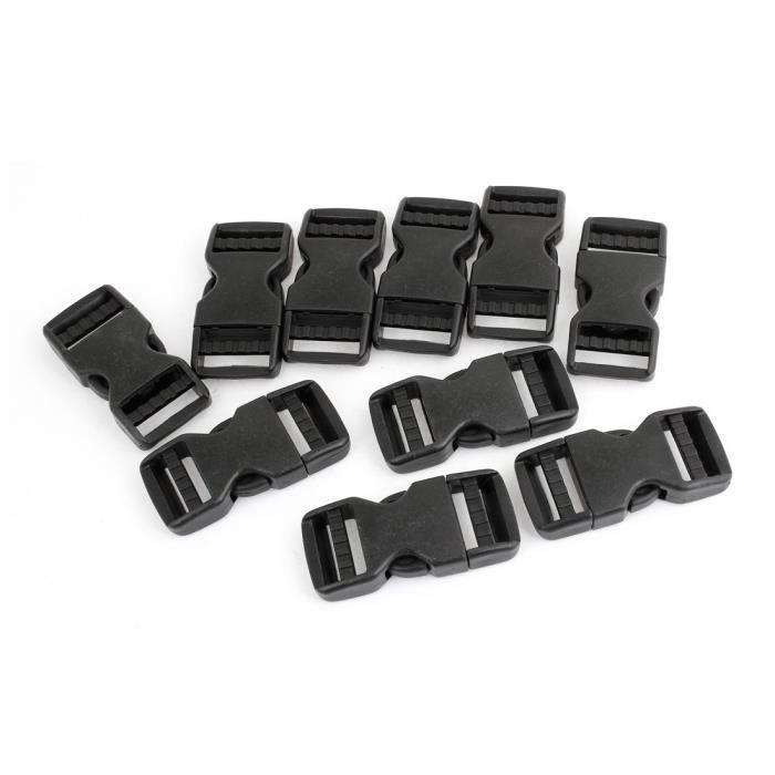 sourcingmap/® Boucle plastique noir de rechange d/égagement rapide 38mm
