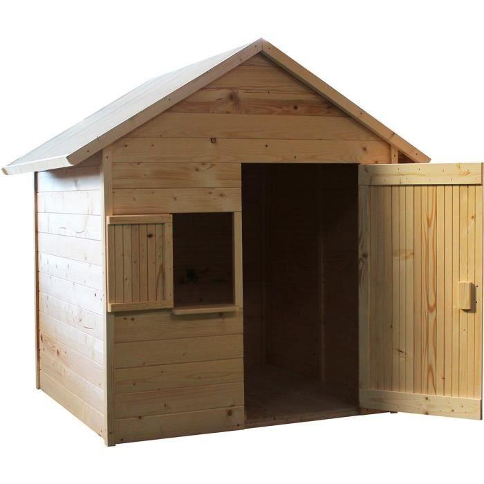 MAISONNETTE EXTÉRIEURE Cabane en bois pour enfant  IGOR