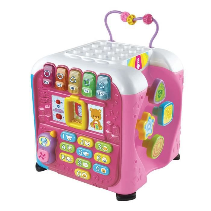 vtech maxi cube multi activit s rose achat vente. Black Bedroom Furniture Sets. Home Design Ideas
