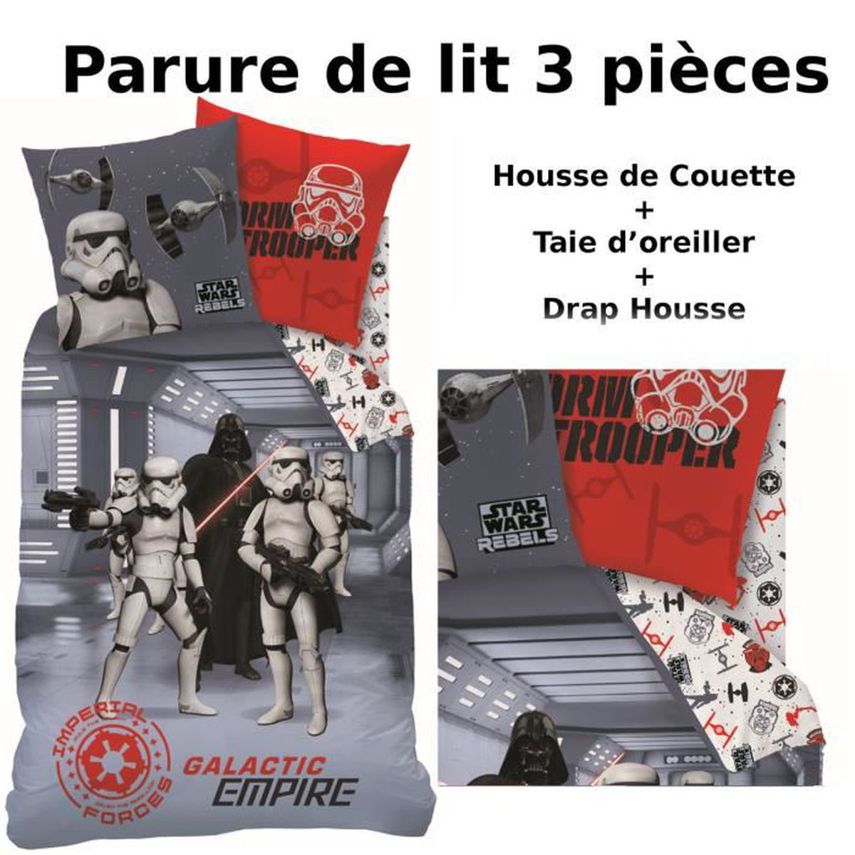 drap star wars achat vente drap star wars pas cher. Black Bedroom Furniture Sets. Home Design Ideas
