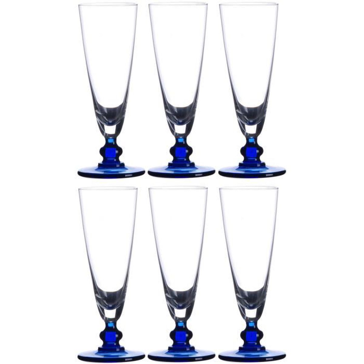 lot de 6 flutes a champagne en verre achat vente lot de 6 flutes a champagne en verre pas. Black Bedroom Furniture Sets. Home Design Ideas