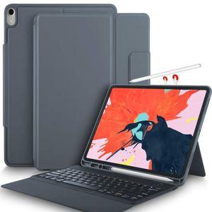 Yocktec Clavier /Étui pour ipad Pro 11 2018 Ultra-Mince Clavier Bluetooth Avant /étui//Housse de Support pour Apple ipad Pro 11 2018 QWERTY Layout Noir