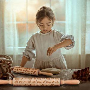ROULEAU À PÂTISSERIE  Rouleau à pâtisserie - Bois de hêtre - avec poigné