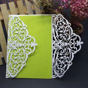 FAIRE-PART - INVITATION 10pcs kit de cartes d'invitation de mariage avec d
