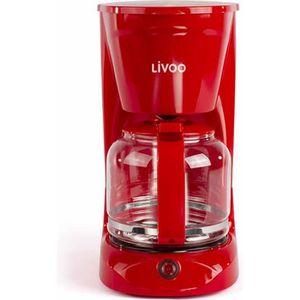 CAFETIÈRE LIVOO - Cafetière électrique rouge 15 tasses - DOD