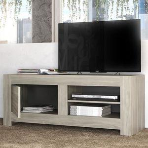 MEUBLE TV Petit meuble tv contemporain couleur chêne gris SO