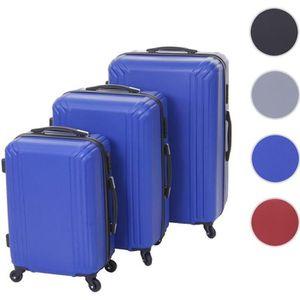SET DE VALISES Lot de 3 valises HWC-D54b, valise rigide, valise à