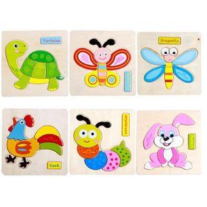 PUZZLE 7PCS Puzzle - Jouet en Bois,Puzzle en Bois éducati