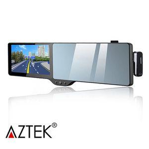 """GPS AUTO AZTEK® Navigateur GPS + rétroviseur 5"""" FM carte eu"""