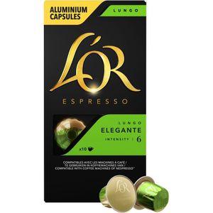 CAFÉ Café moulu en capsules x10 L'Or Espresso
