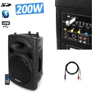 ENCEINTE ET RETOUR Enceinte DJ SONO amplifiée 200W MP3 IBIZA SOUND SL