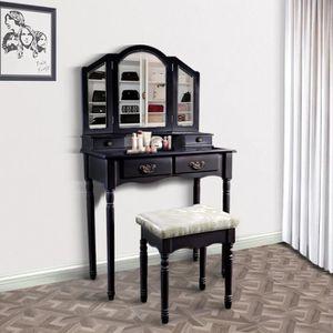 COIFFEUSE LANGRIA Coiffeuse, Table de Maquillage en bois de