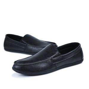 CHAUSSURES BATEAU Chaussures Homme New PU Mocassins bateau Noir