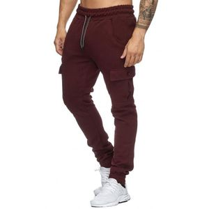 SURVÊTEMENT Jogging slim rouge cargo Violento