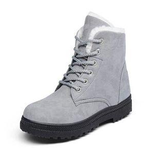 Bottine Femme hiver Classique peluche boots BJXG XZ003Gris