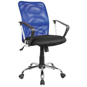 CHAISE DE BUREAU Chaise de bureau en maille coloris bleu et tissu n