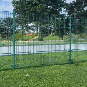 CLÔTURE - GRILLAGE vidaXL Panneau de clôture avec poteaux 6 x 1,6 m F