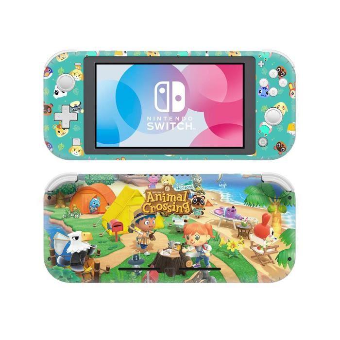 Animal Crossing Complet d'autocollant de protection Sticker Skin Console pour Nintendo Switch Lite protecteur de Console NS Lite 06