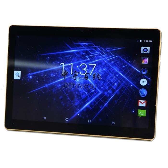 10.1 pouces Tablet PC Android 7.0 Téléphonique Octa Core 4 Go + 32 GO Dual SIM Bluetooth wiFi GPS Comprimés PC 10/8 10.9