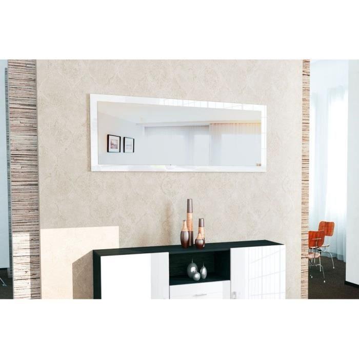 Miroir laqué Blanc 139 * 55 cm