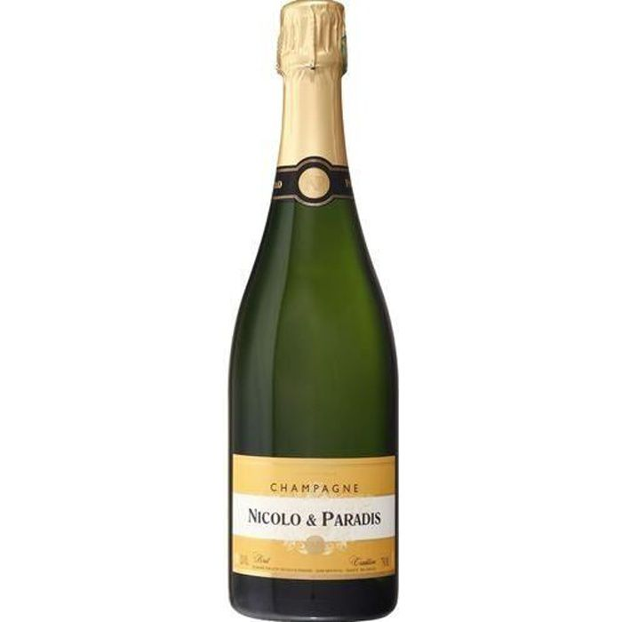 6 bouteilles - Champagne blanc - Effervescent - CHAMPAGNE NICOLO & PARADIS Brut Tradition Blanc 6x75cl
