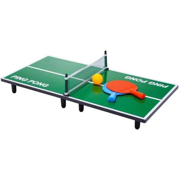 N - C Mini Table de ping-Pong, Table de ping-Pong en Bois Pliante, Ensemble de Jeu Portable de 35 x 16, pour Enfants et Tout-P[217]