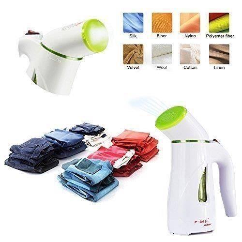 Travel Steamer Défroisseur de voyage,Mini Handheld Textile and Fabric Steamer,portable Mini Travel Clothes Steamer de Couleur Vert