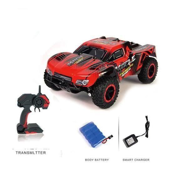 RC Voiture 1-16 Véhicule Télécommandée Haute Vitesse Tout Terrain 4WD 2,4 GHz Battrie Rechargable