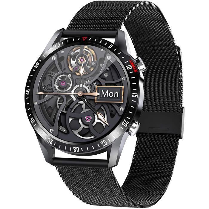 Jpantech Montre Connectée Femmes Homme Smartwatch Montre Sport Podometre Cardiofrequencemètre ECG Etanche IP68 Natation Running Mont