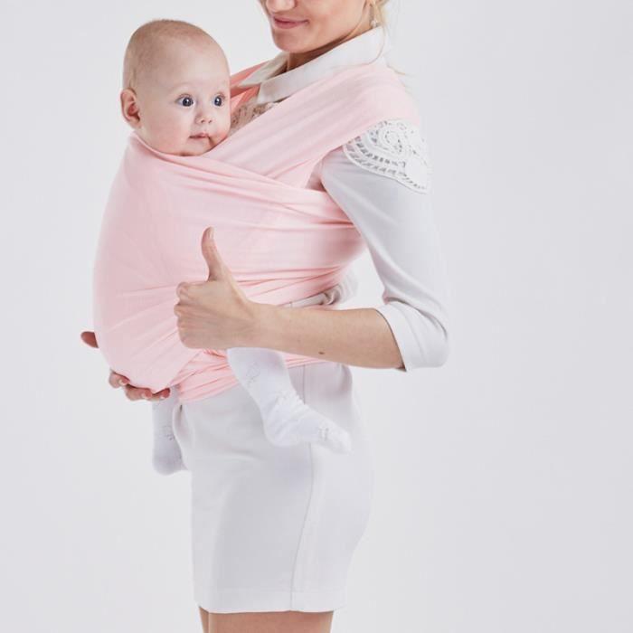 Echarpe de portage réglable Porte bébé Rose