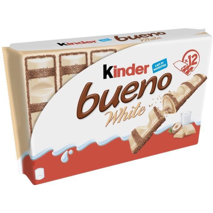KINDER Lot de 12 barres de Bueno White - Lait et Noisettes - 468 g
