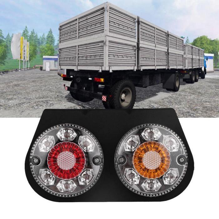 Fydun Feu arrière à LED Feu arrière de clignotant étanche à LED de camion de remorque bicolore LED feu arrière