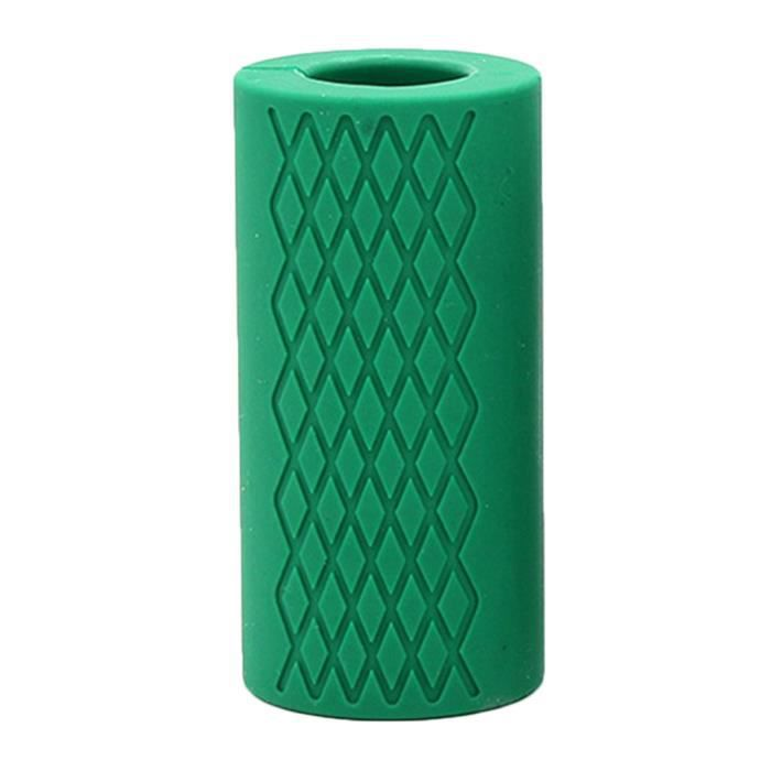 Haltère Poignées en Silicone Antidérapant Épaisses pour Forme Physique vert